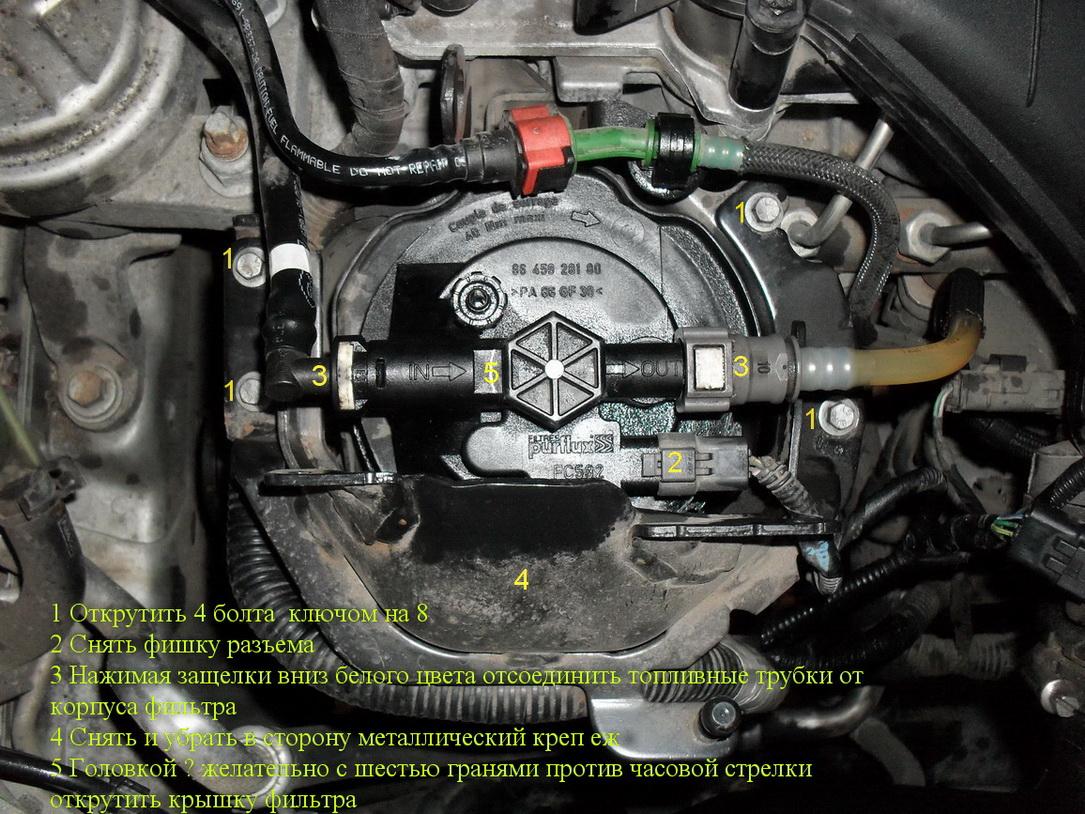 Замена топливного фильтра форд фокус 3 своими руками